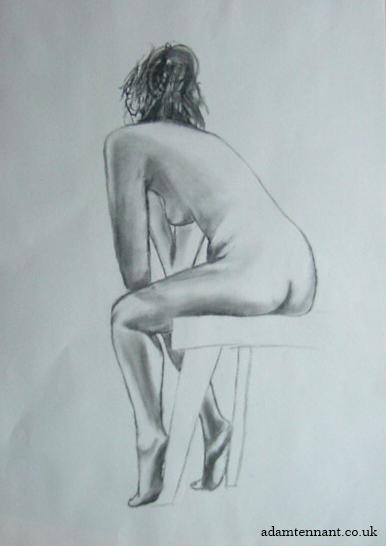 Charcoal Life Drawing 01