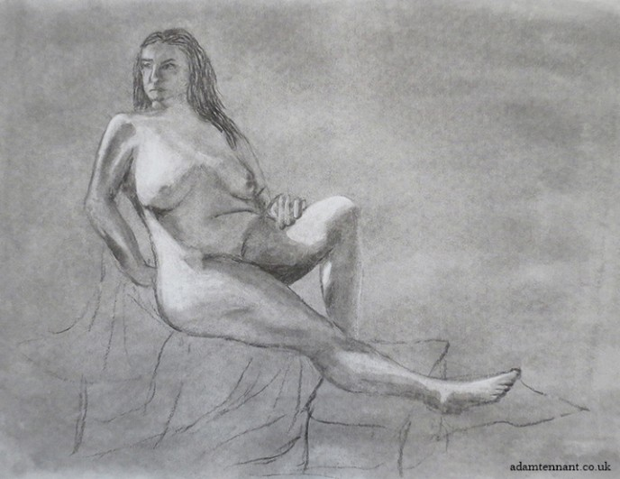 Charcoal Life Drawing 02