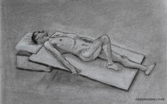 Charcoal Life Drawing 06